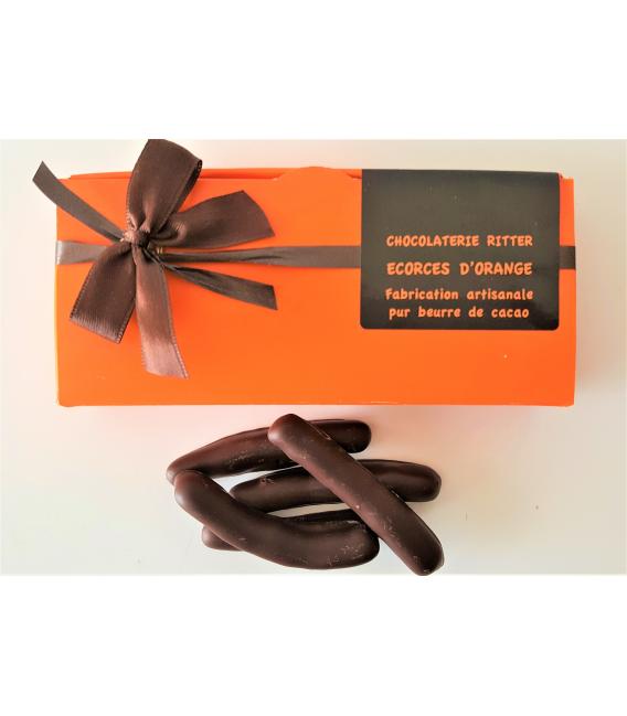 Etui d'orangettes chocolat noir 100gr