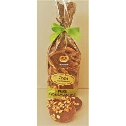 Sachet de palets chocolat lait aux brisures de bretzels 140gr