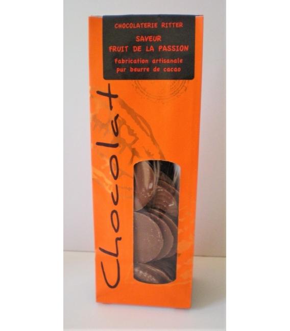 Palets chocolat lait arôme fruit de la passion 120gr