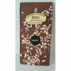 Tablette chocolat lait aux noisettes 100g